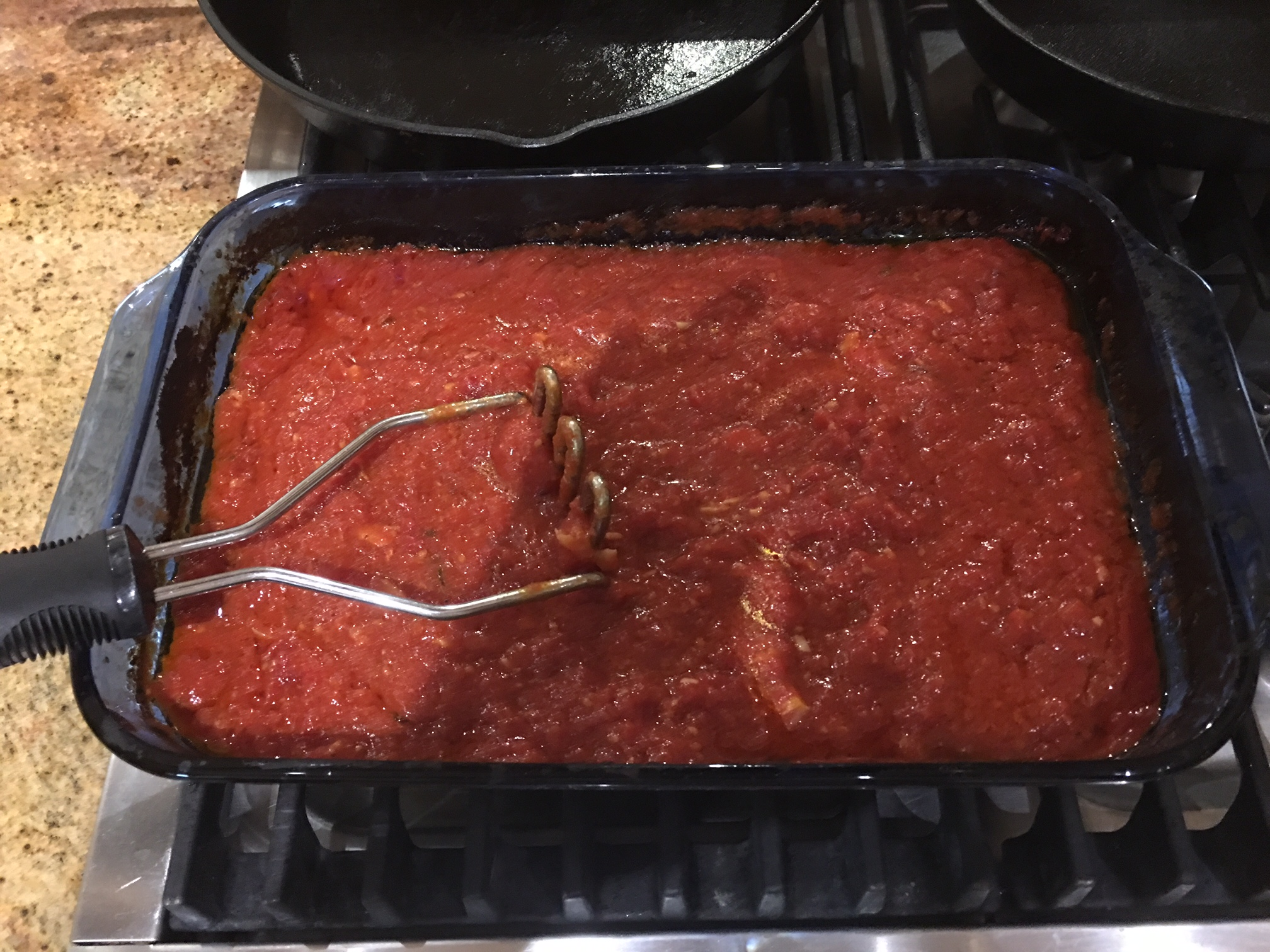 Great Dinner Last Night!  – Pasta with Baked Tomato Sauce and Caesar Salad
